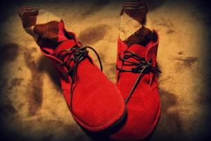 赤い靴の素材 [FYI00280710]