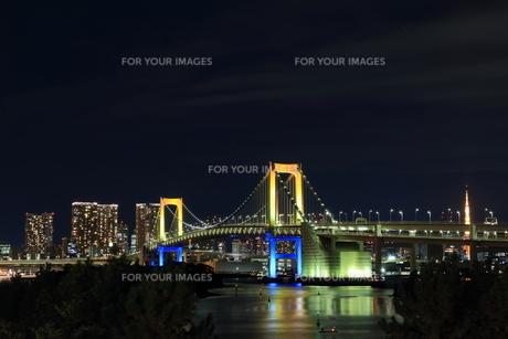 東京タワーとレインボーブリッジの素材 [FYI00280829]