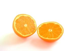 ミネオラオレンジの断面の写真素材 [FYI00280888]