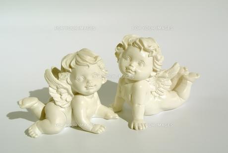 天使のオブジェの写真素材 [FYI00281006]