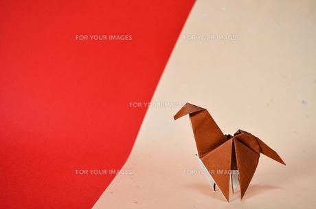 折り紙の馬の素材 [FYI00281226]