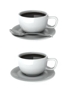 コーヒーカップCGの写真素材 [FYI00281373]