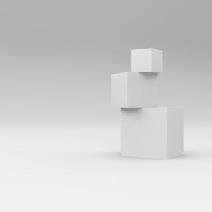 立方体のある部屋の写真素材 [FYI00281472]