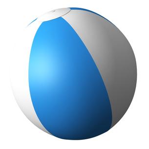 ビーチボールの写真素材 [FYI00281479]