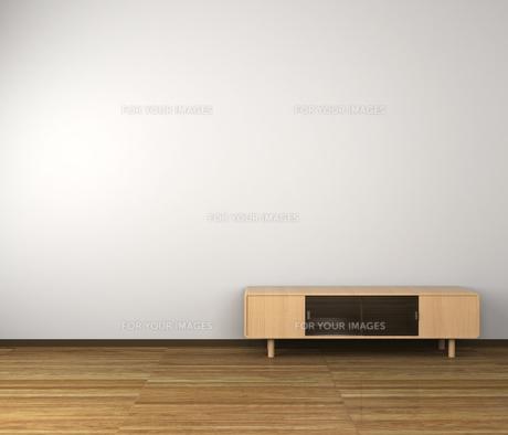 テレビ台のある部屋の写真素材 [FYI00281491]