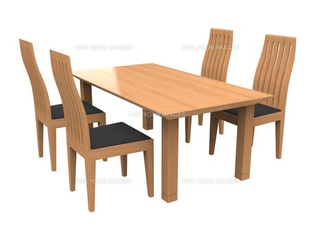 ダイニングテーブルの写真素材 [FYI00281547]