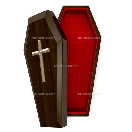 ドラキュラの棺桶 上面図の写真素材 [FYI00281616]