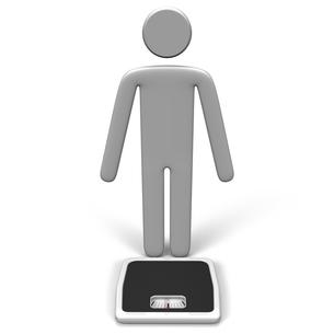 体重計の前に立つ人 正面図の写真素材 [FYI00281621]