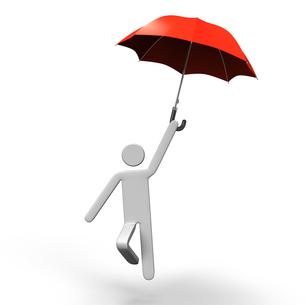 傘で飛ぶ人の写真素材 [FYI00281623]