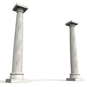 古代ヨーロッパの石柱 背景素材用の写真素材 [FYI00281632]