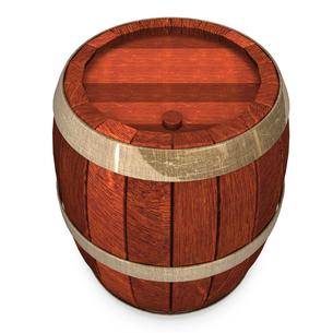 酒樽 上面図の写真素材 [FYI00281633]