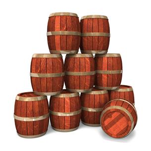積み重ねた酒樽の写真素材 [FYI00281634]