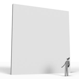 大きな壁を見上げる人の写真素材 [FYI00281635]