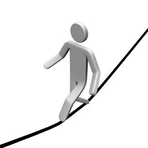 ロープを渡る人 上面図の写真素材 [FYI00281641]
