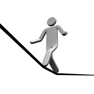 ロープを渡る人の写真素材 [FYI00281648]