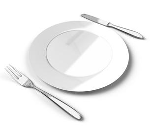 カトラリーと皿の写真素材 [FYI00281720]