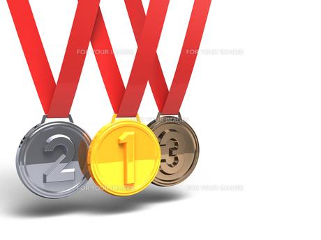 3メダル テキストスペース付きの素材 [FYI00281726]
