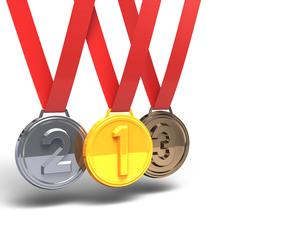 3メダル テキストスペース付きの写真素材 [FYI00281726]