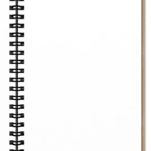 リングノートの1ページの写真素材 [FYI00281734]