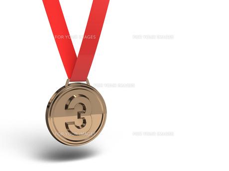 銅メダル テキストスペース付きの素材 [FYI00281735]