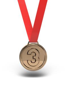 銅メダル 正面図の写真素材 [FYI00281746]
