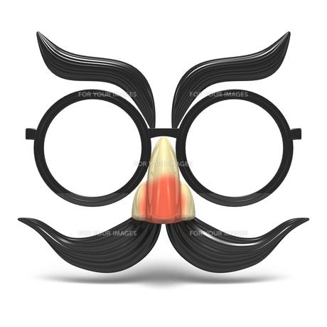 おもちゃの鼻眼鏡 正面図の写真素材 [FYI00281747]