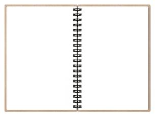 白紙のリングノートの写真素材 [FYI00281751]