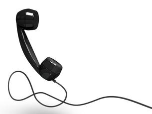 黒電話の受話器の写真素材 [FYI00281752]
