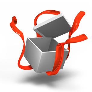 空きかけのプレゼントボックスの写真素材 [FYI00281754]