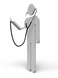 聴診器をもつ人の写真素材 [FYI00281757]