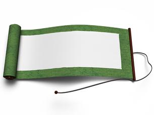 緑色の古い巻物の写真素材 [FYI00281762]