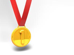 金メダル テキストスペースの写真素材 [FYI00281763]