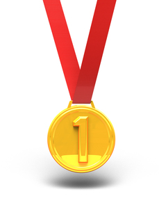 金メダル 正面図の写真素材 [FYI00281765]