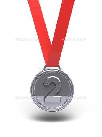 銀メダル 正面図の素材 [FYI00281766]