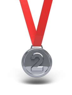 銀メダル 正面図の写真素材 [FYI00281766]