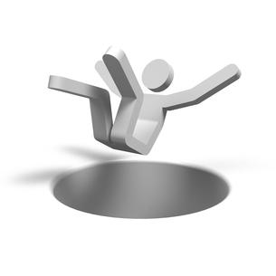 穴に落ちる人の写真素材 [FYI00281767]