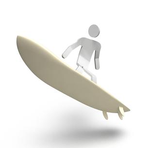 サーフィンをする人の写真素材 [FYI00281779]