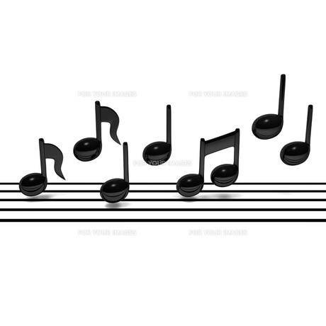 五線譜と音符の写真素材 [FYI00281782]