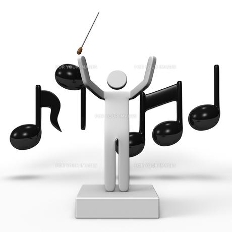 指揮者と音符の写真素材 [FYI00281788]