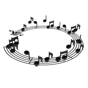 円形の楽譜の写真素材 [FYI00281793]
