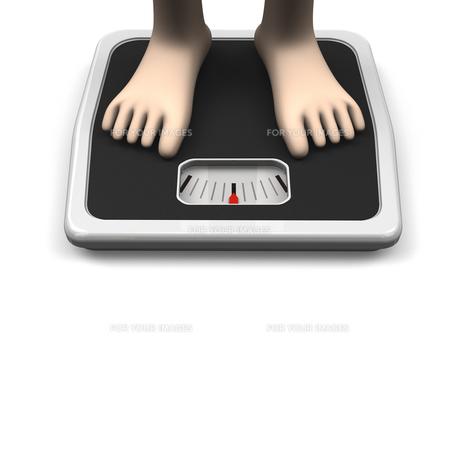 体重計と足 正面図 テキストスペースありの素材 [FYI00281795]