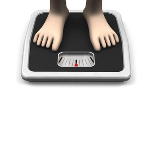 体重計と足 正面図 テキストスペースありの写真素材 [FYI00281795]