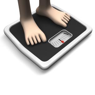 体重計と足 テキストスペースありの写真素材 [FYI00281801]