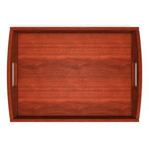 木製トレー 上面図の写真素材 [FYI00281809]