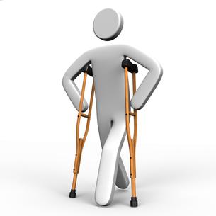 松葉杖で歩く人の写真素材 [FYI00281815]