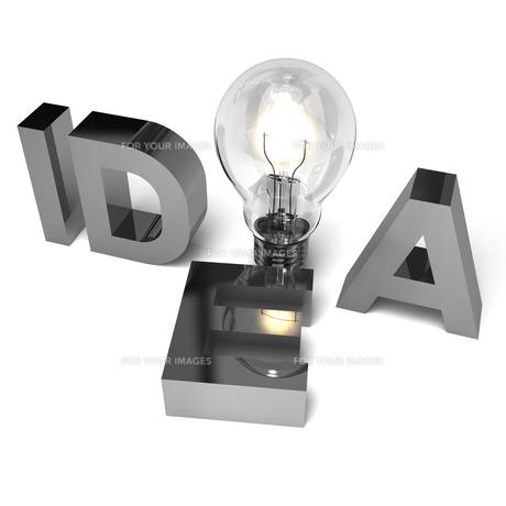 IDEAのアルファベットと電球の写真素材 [FYI00281830]