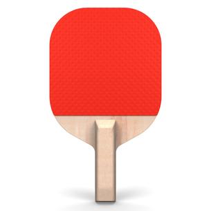 赤い卓球ベラの写真素材 [FYI00281834]