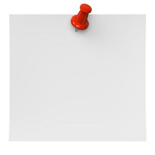 押しピンと紙の写真素材 [FYI00281923]