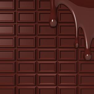溶けた板チョコ 背景素材用の写真素材 [FYI00281937]
