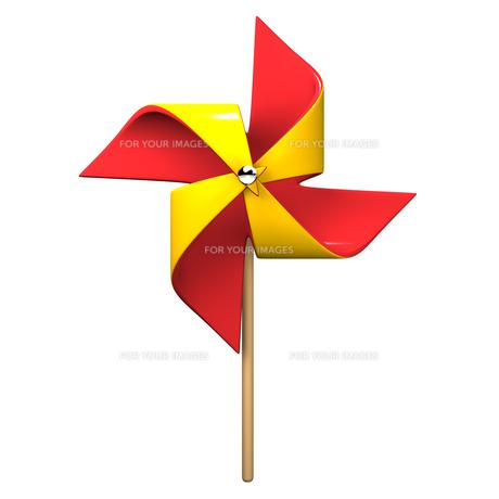 赤と黄色のかざぐるまの素材 [FYI00281938]